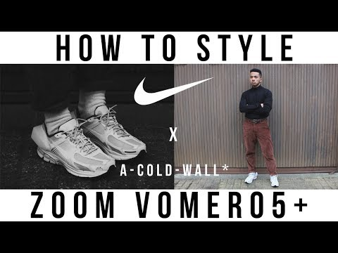b26f0e3fb151 A COLD WALL  Nike Zoom Vomero 5 White Unboxing