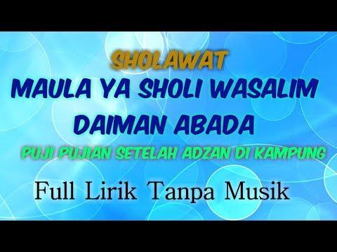 sholawat-maula-ya-sholli-wasallim-daiman-abada-(full-lirik-tanpa-musik)