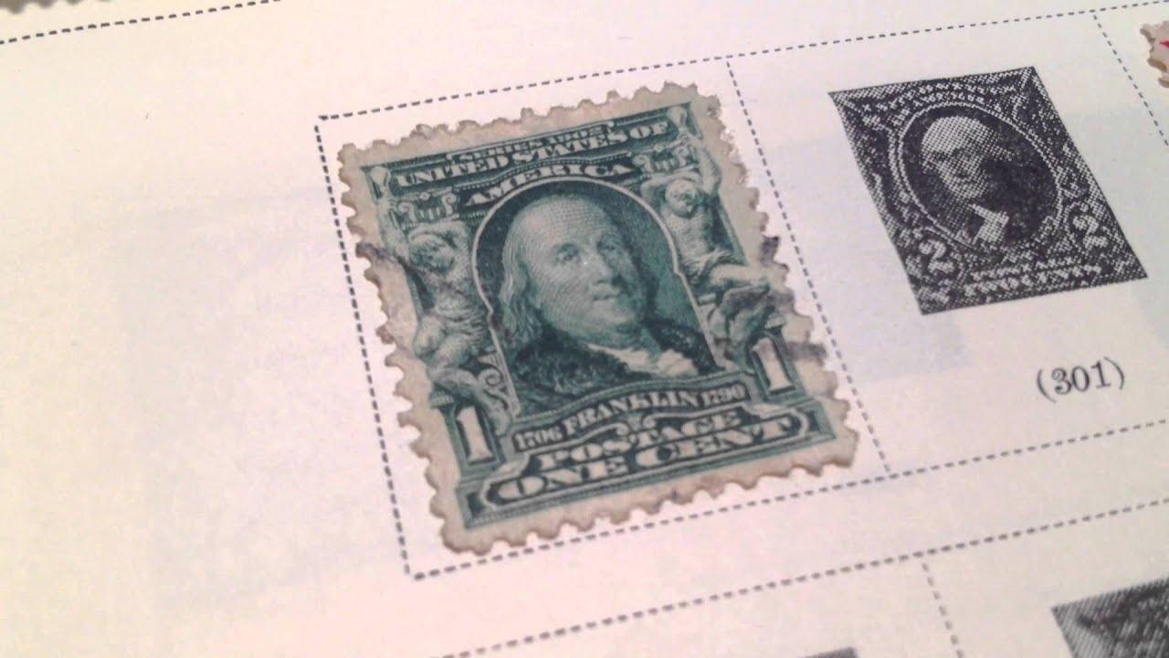 1902 1903 1 Benjamin Franklin US Postage Stamp Scotts 300