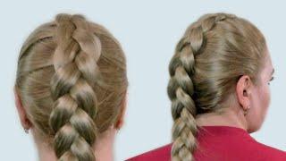 Плетение Французской Косы Наоборот на Себе (Видео-Урок). Reverse French Braid itself Tutorial(Плетение французской косы наоборот не составляет особого труда, а выглядит коса эффектно. Как заплести..., 2012-11-21T19:13:09.000Z)