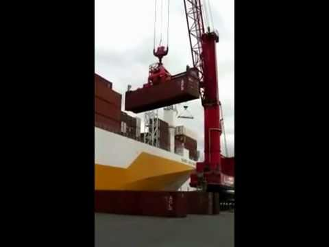 Container Loading USA Terminal Amsterdam