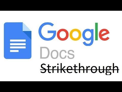 How To Use Google Docs Strikethrough