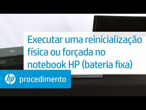 Executar uma reinicialização física ou forçada no notebook HP (bateria fixa)