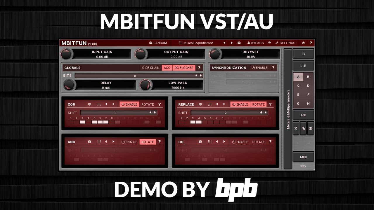 MBitFun VST Plugin DEMO (Free Bitcrusher)
