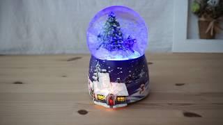 워터볼 오르골 눈내리는 크리스마스 겨울풍경