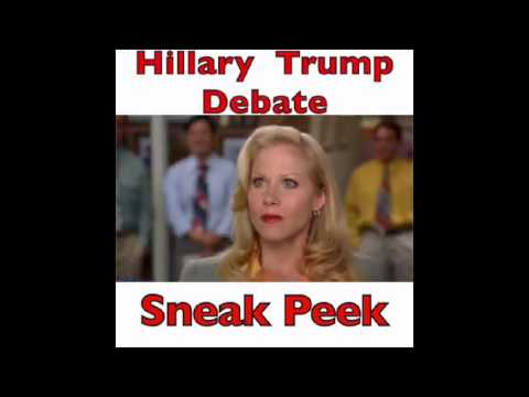 Hillary Clinton and Donald trump debate sneak peek lol funny