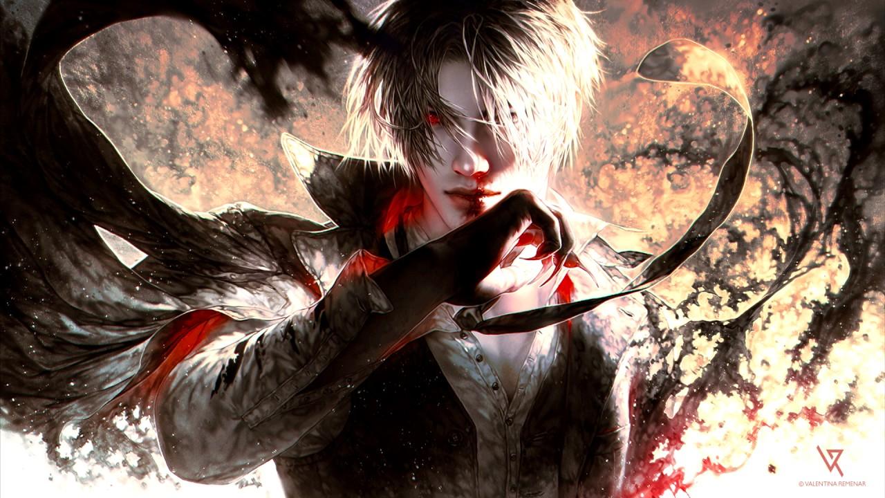 Anime Girl Wallpaper White Haired Demon Guy Hiroyuki Sawano The Brave By Yosh Epic Vocal Rock