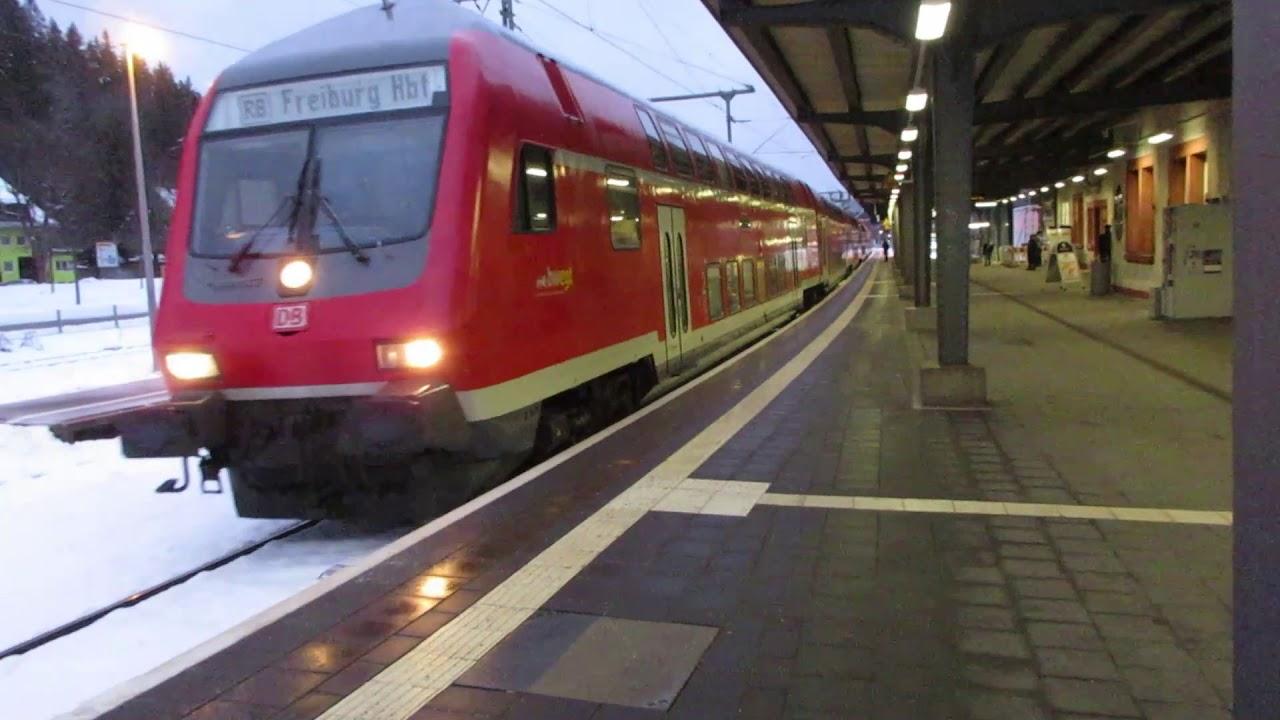 Abfahrt der RB Neustadt-Freiburg in Titisee