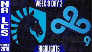 Video TL vs C9 Highlights | NA LCS summer 2018 Week 8 Day 2 | Team Liquid vs Cloud9 download MP3, 3GP, MP4, WEBM, AVI, FLV Agustus 2018