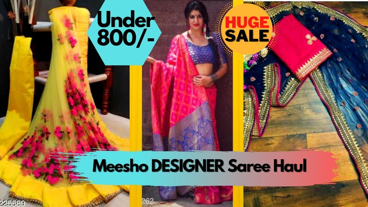 Meesho Saree Haul Under 800/- Latest Designer Sarees Haul|Meesho|Online Shopping Review With kinjal
