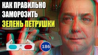 3D stereo red-cyan Лайфхак Как правильно заморозить свежую зелень петрушки. Мальковский Вадим