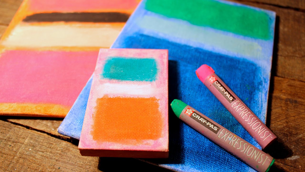 Mark Rothko Inspired Art Project Fun Easy Oil Pastel How To