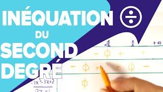 Résoudre une Inéquation du Second Degré Quotient - Tableau de Signe - Mathrix