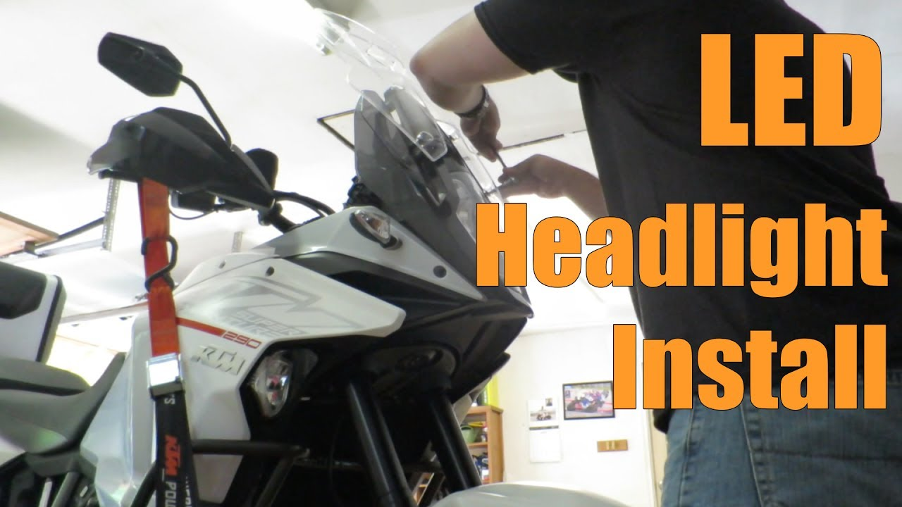 cyclops led headlight install ktm 1190 1290 super adventure [ 1280 x 720 Pixel ]