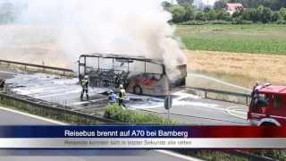 16 07 2013 ba reisebus brennt auf der a70 bei bamberg