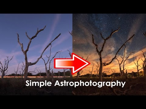 How to photograph stars and photoshop an astrophotography image