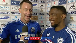 """He said he's very happy... JT is my best mate"" - John Terry hilariously translates for Samuel Eto'o"