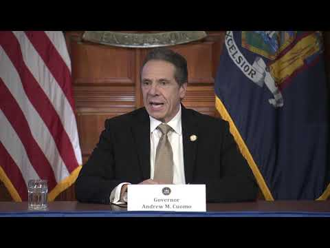 Gov. Andrew Cuomo's news conference in Albany on Sunday, March 22.