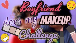 Boyfriend Does My Makeup Challenge (Laughtrip Bes! HAHA) | Cheska Aguiluz