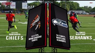 14u GMYFL Maryland Seahawks vs 14U Miami Gardens Chiefs (Traz Powell Stadium, Miami,FL)