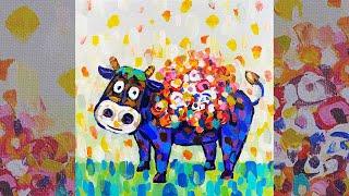 취미미술 귀여운 소 그리기 Pop art Cow Dra…