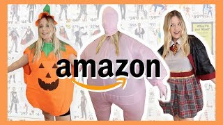 "TRYING ON ""PLUS SIZE"" HALLOWEEN COSTUMES FROM AMAZON!"