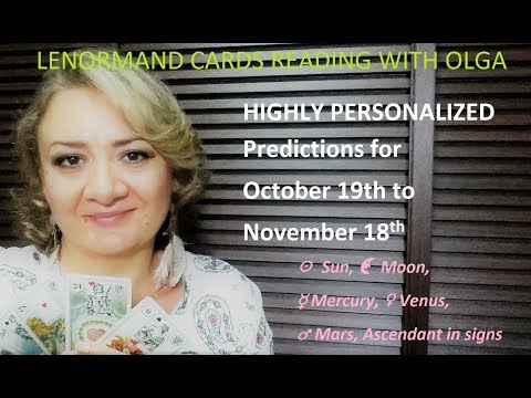 Lenormand HIGHLY PERSONALIZED Predictions for October 19th - November 18th with Olga!