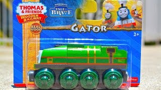 Thomas & Friends Gator Wooden Railway Toy Train Tale Of The Brave Review By Mattel Fisher Price