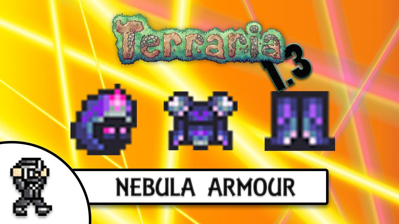 Terraria 1 3 nebula armour best magic armour invincible youtube
