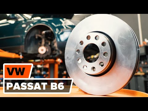 How to replace front brake discs and front brake pads on VW PASSAT B6 TUTORIAL | AUTODOC