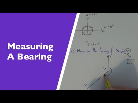 How to measure the bearing of A from B (measuring bearings)