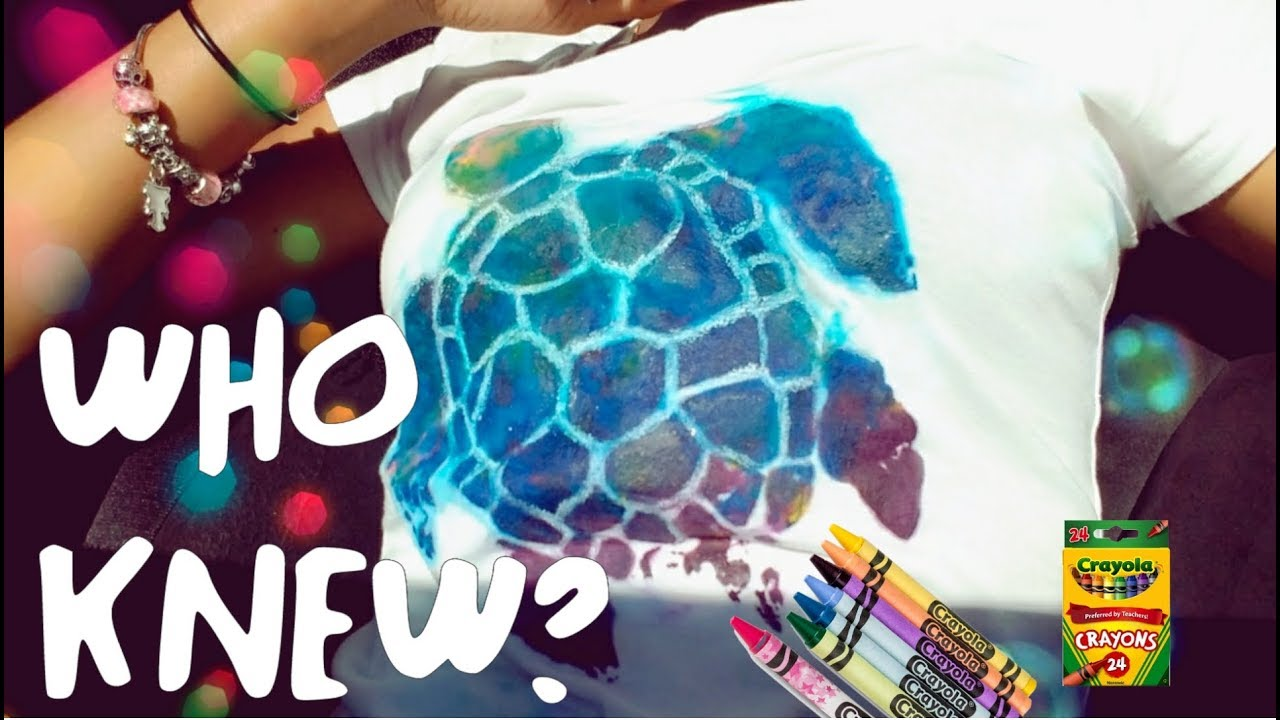 How To Make Crayon Prints On A T-Shirt images