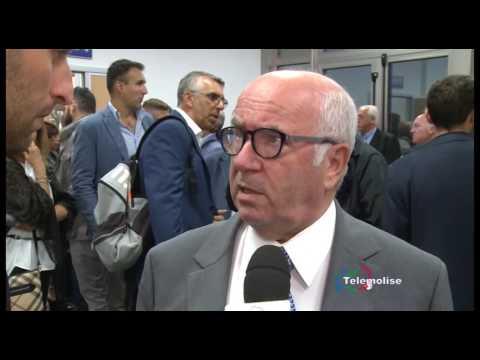 Carlo Tavecchio all'inaugurazione della sede FIGC Molise