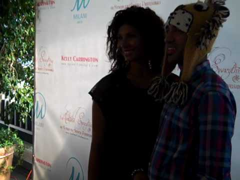 Enzyme Dynamite and Genevieve Jackson on the red carpet in Beverly Hills