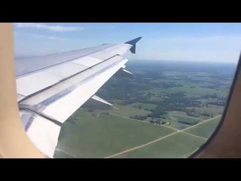 Delta Air Lines A319 Landing at Des Moines International Airport