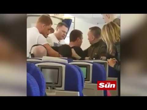 Drunk Russian man on BA flight is restrained by 10 passengers