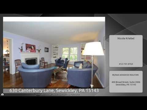 630 Canterbury Lane, Sewickley, PA 15143