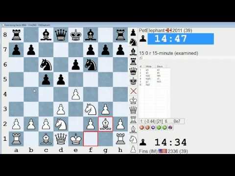 Standard Chess #130: IM Bartholomew vs. PetElephant (King's Indian Attack)