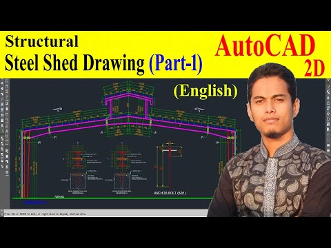 Structural drawing of steel shed (part-1)