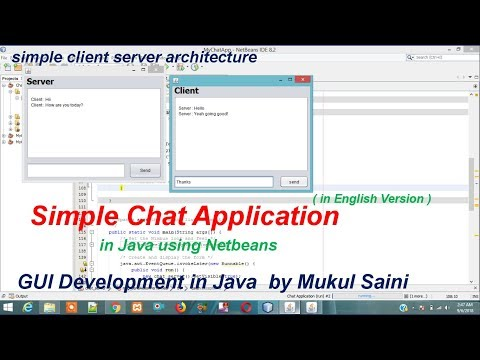 Java NetBeans Tutorial | Chat Application In Java