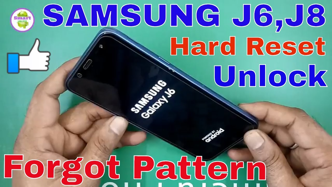 Hard Reset SAMSUNG GALAXY J6 Pattern UNLOCK J8 Fingerprint Lock