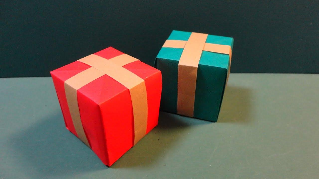 ���������������christmas quotpresent boxquot origami youtube