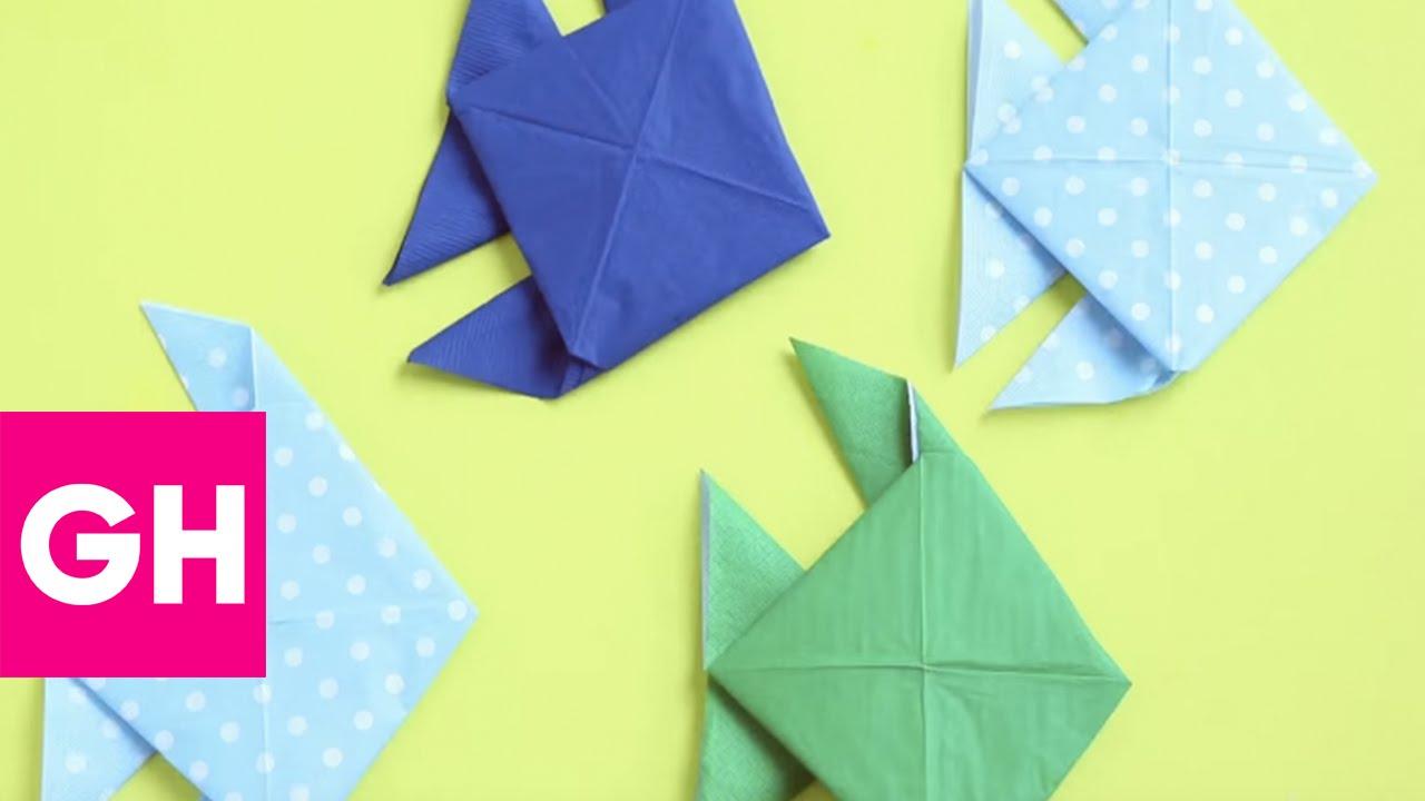 Summer Fish Napkin Fold with @OrigamiTree