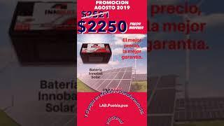Batería para Energia solar fotovoltaica sistemas aislados 12v 115 ah