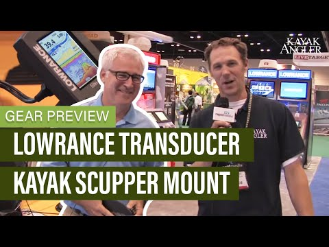 Lowrance Transducer Kayak Scupper Mount | Hobie Transducer Mount | Gear Preview