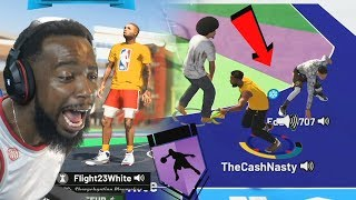 Me And FlightReacts BREAKS Trash Talker ANKLES In MyPARK! NBA 2k19
