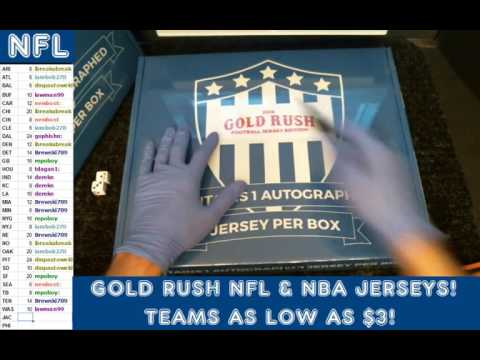 Gold Rush 2016 2 Box Break Autograph Jersey YA Tittle and Deion Sanders