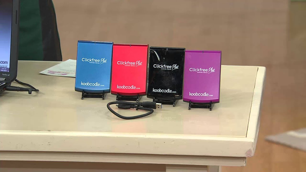 Clickfree 1TB Portable Hard Drive with Complete Backup with Kerstin  Lindquist