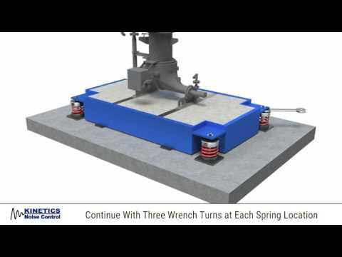 CIB Inertia Base Installation With FDS Isolators