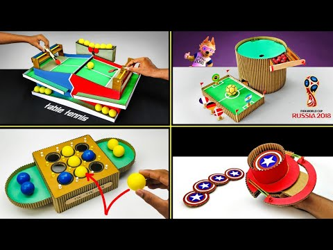 TOP 4 Amazing Diy Desktop Games From Cardboard